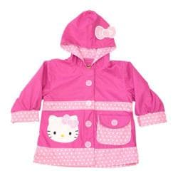 Girls' Western Chief Hello Kitty Cutie Ruffles Raincoat Pink