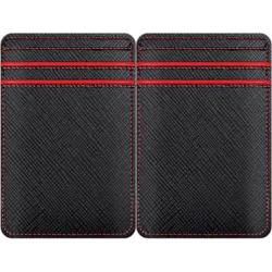 Men's Wurkin Stiffs RFID Magic Wallet Black/Red