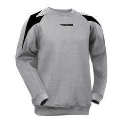 Boys' Diadora Chevron Crew Sweatshirt Grey/Black