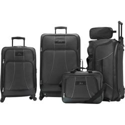 Skyway Luggage Seville 5 Piece Travel Set Black