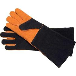 Steven Raichlen Best of Barbecue Extra Long Suede Glove Set Black/Tan