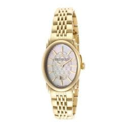 Women's Dreyfuss DLB00046-02 Polished Gold Tone IP/White MOP/Textured