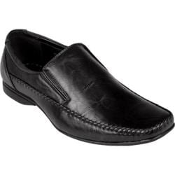 Men's Oxford & Finch Square Toe Slip-on Loafers 17712 Black