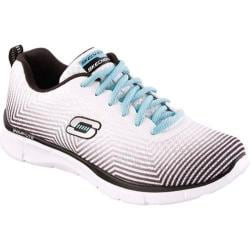 Women's Skechers Equalizer Expect Miracles White/Black