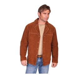 Men's Scully Leather Boar Suede Car Coat 975 Tall Cinnamon Boar Suede