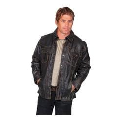 Men's Scully Leather Lamb Jacket 250 Black