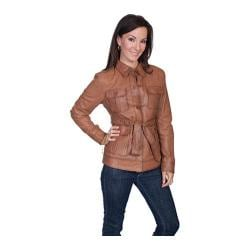 Women's Scully Leather Lamb Jacket L993 Cognac Soft Lamb
