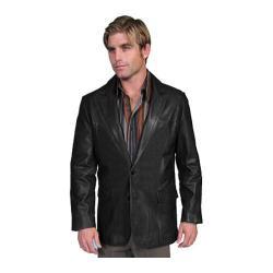 Men's Scully Leather Lambskin Blazer 501 Black
