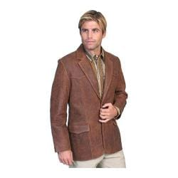 Men's Scully Leather Lambskin Blazer 501 Long Brown