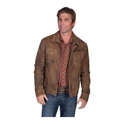 Men's Scully Leather Zip Front Leather Jacket 244 Prairie