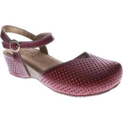 Women's Spring Step Lizzie Red Leather