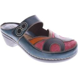 Women's Spring Step Maureen Blue Multi Leather