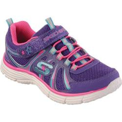 Girls' Skechers Ecstatix Wunderspark Purple/Neon-Pink