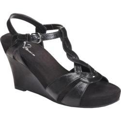 Women's A2 by Aerosoles Stone Plush Black Faux Leather