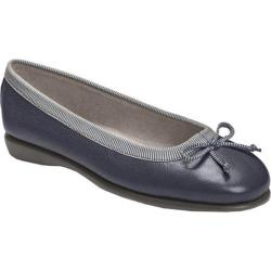 Women's Aerosoles Teashop Dark Blue Leather/Fabric