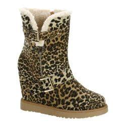 Women's Beston Brooks-02 Leopard Faux Suede