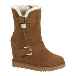 Women's Beston Brooks-02 Tan Faux Suede