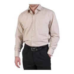 Men's Oxford & Finch Wrinkle-free French Cuff Dress Shirt Beige