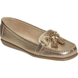 Women's Aerosoles Super Soft Soft Gold Metallic Leather