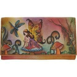 Women's Anuschka Multi-Pocket Wallet/Clutch Enchanted Forest Fairy