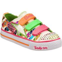 Girls' Skechers Twinkle Toes Shuffles Classy Sassy White/Multi