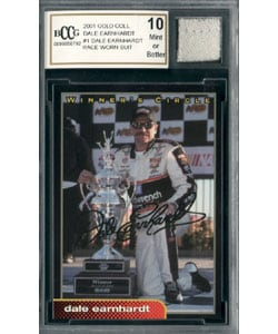 Dale Earnhardt Sr Race Worn Suit Mint 10 GGUM Card