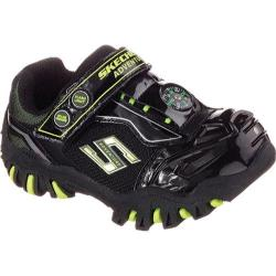 Boys' Skechers Hot Lights Damager II Adventurer Black/Lime