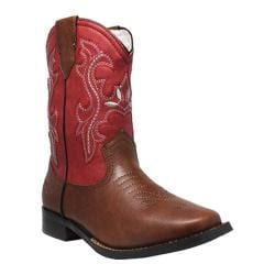 Girls' Tecs 6582 8in Western Pull On Red