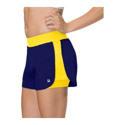 Women's Fila Spirit Double Layer Short Royal Spirit/Lemon Twist