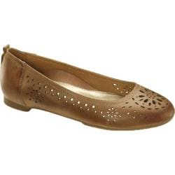 Women's Aetrex Joanna Cognac Leather