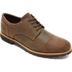 Men's Rockport Channer Oxford Brown II Leather