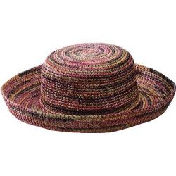Women's San Diego Hat Company Crocheted Raffia Hat RHL10 Mixed Earth Tone
