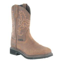 Men's Iron Age Ruffian Square Toe Wellington Boot Brown Full Grain Leather