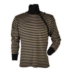 Men's J-Arty Striped Mock Neck Grey/Black