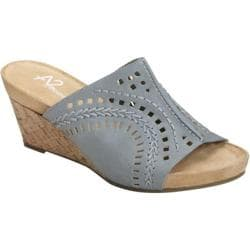 Women's A2 by Aerosoles Highlight Chambray Blue Combo Faux Leather
