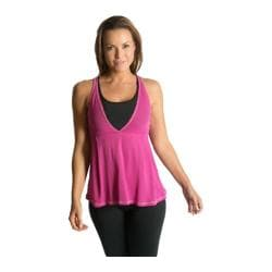 Women's Be Up Loose Fit Power Tank Pink/Black