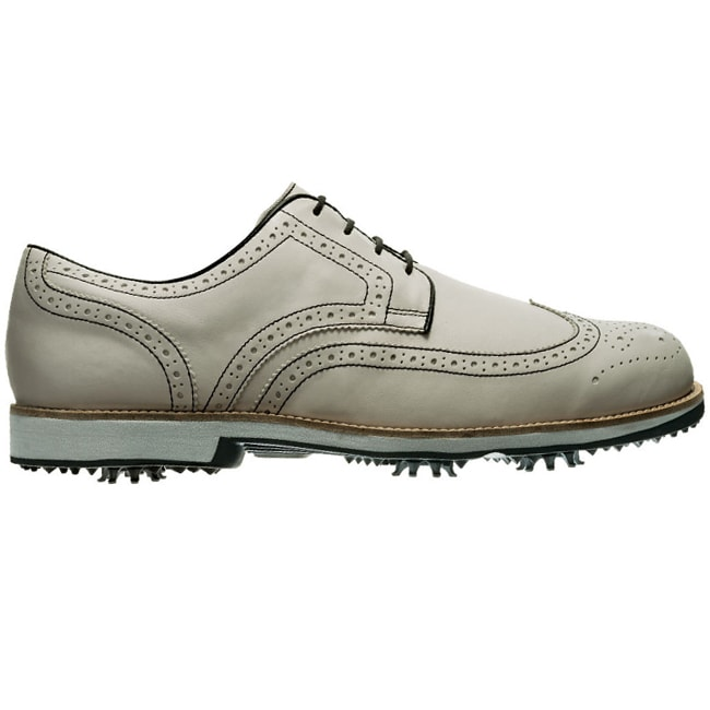 FootJoy Men's FJ City Off White/Black Golf Shoes