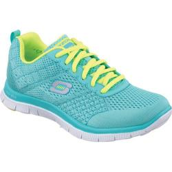 Women's Skechers Flex Appeal Obvious Choice Aqua/Lime