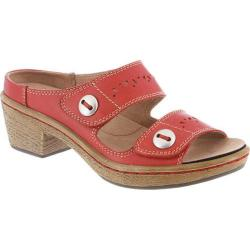 Women's Klogs Journey Hunter Red Leather