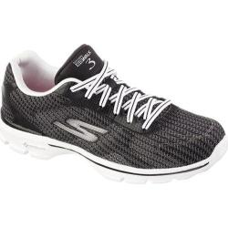 Women's Skechers GOwalk 3 FitKnit Black/White