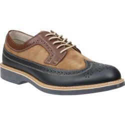Men's Bass Pearson Navy/Taupe/Cognac Leather/Suede