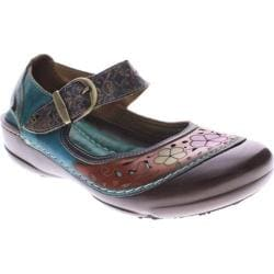 Women's Spring Step Dexter Turquoise Multi Leather