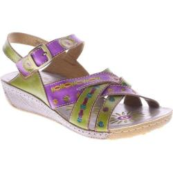 Women's Spring Step Livingstone Purple/Green Leather