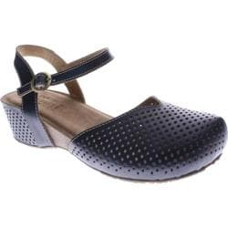Women's Spring Step Lizzie Navy Leather