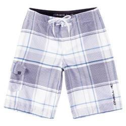 Boys' O'Neill Santa Cruz Plaid 14206702 White