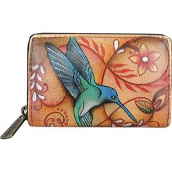 Women's Anuschka Credit And Business Card Holder 1110 Flying Jewels Tan