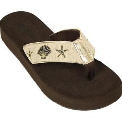 Women's Tidewater Sandals Ingleside Shells Gold Metallic/Natural
