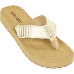 Women's Tidewater Sandals Onslow Gold Gold/White