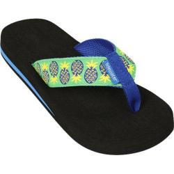 Women's Tidewater Sandals Pineapples Blue/Green/Yellow