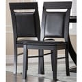 Abbyson Living 'Calvin' Dark Mahogany Dining Chairs (Set of 2)